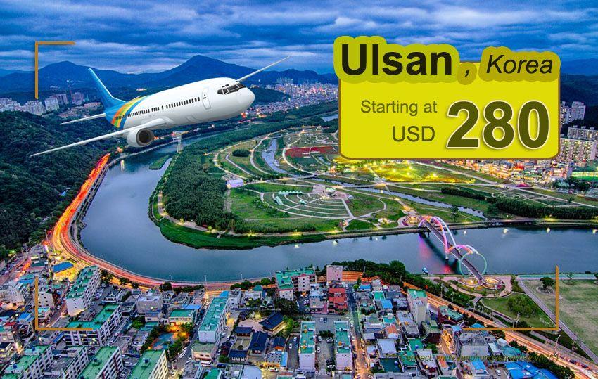 Đặt vé máy bay đi Ulsan (Hàn Quốc) giá rẻ