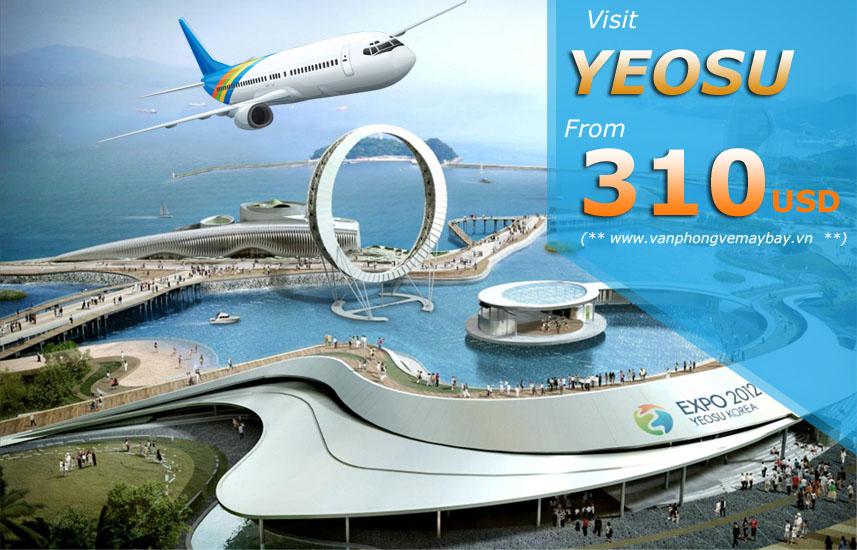 Đặt vé máy bay đi Yeosu (Hàn Quốc) giá rẻ