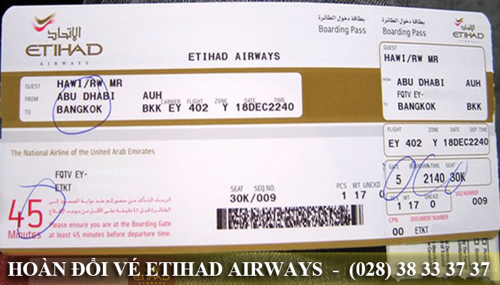Đổi vé Etihad Airways