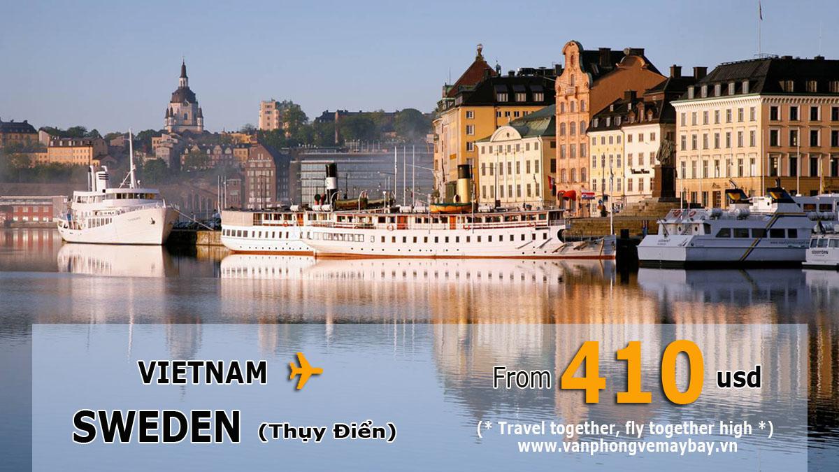 Vé máy bay đi Thụy Điển (Sweden) giá rẻ