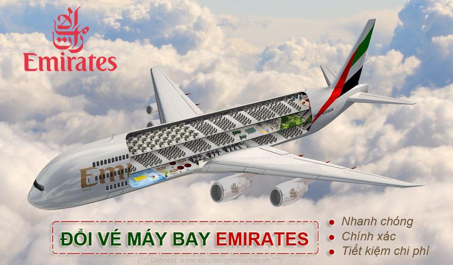 Hướng dẫn hoàn đổi vé máy bay Emirates