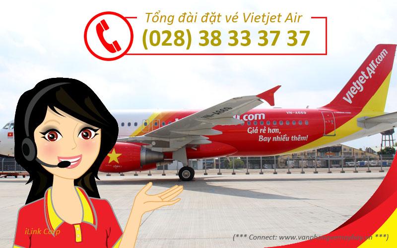 Tổng đài đặt vé Vietjet Air