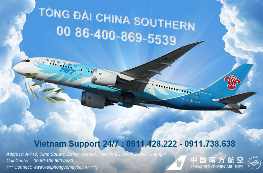 Số điện thoại tổng đài đặt vé China Southern Airlines