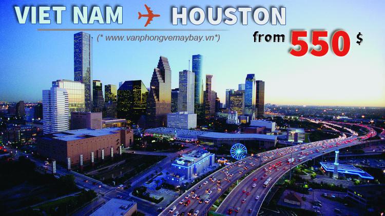 Vé máy bay đi Houston (Mỹ) chỉ từ 550 USD