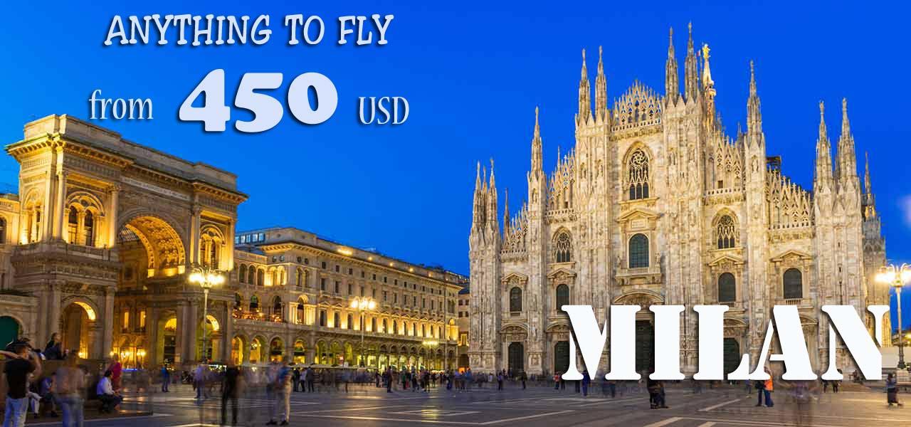 Vé máy bay đi Milan (Ý) giá chỉ từ 450 USD