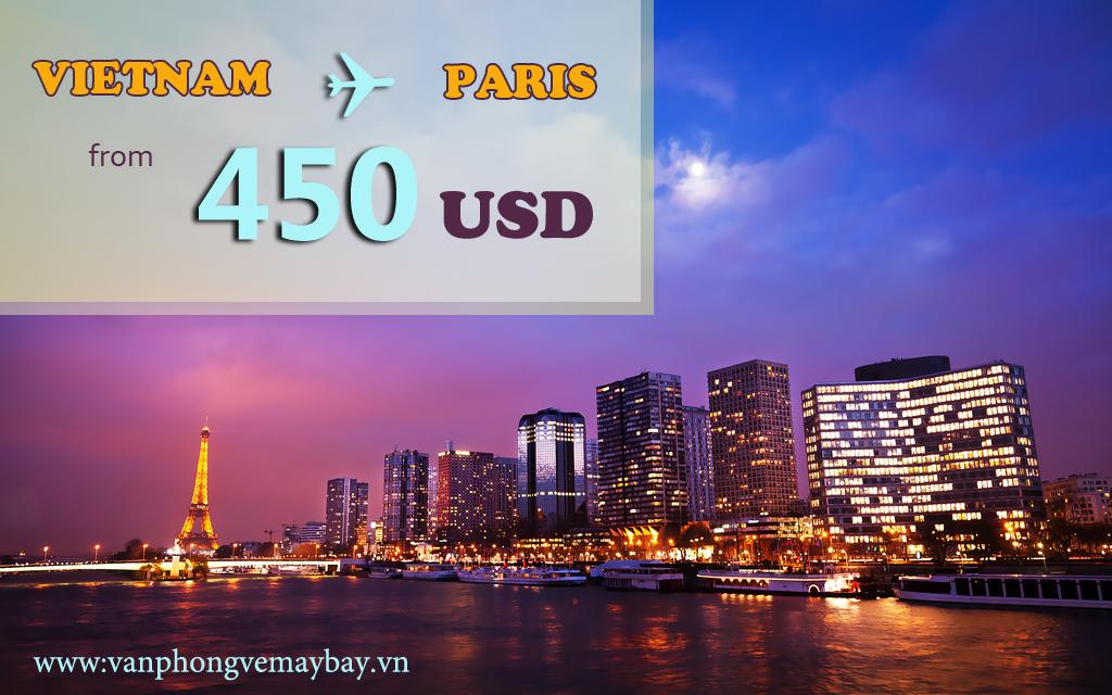Vé máy bay đi Paris (Pháp) giá chỉ từ 450 USD