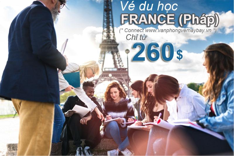 Vé máy bay đi du học Pháp (France)