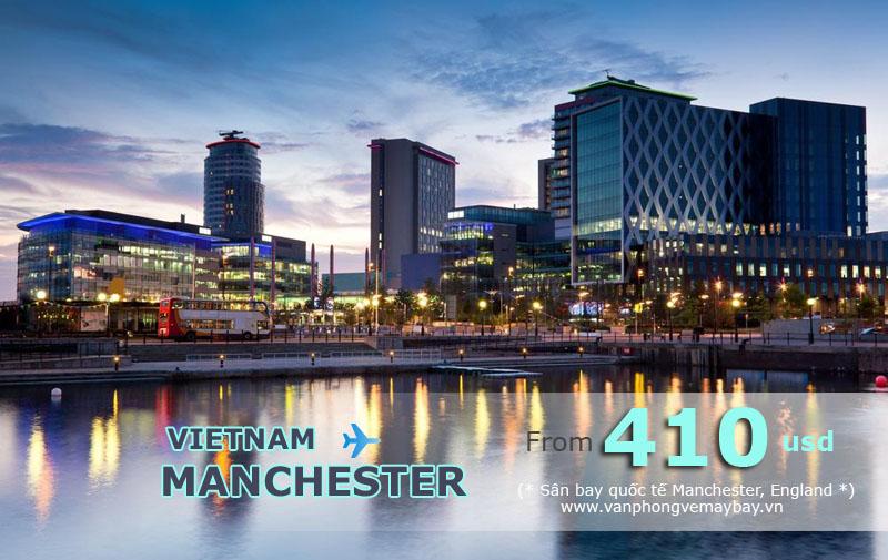 Vé máy bay đi Manchester (Anh) giá chỉ từ 450 USD