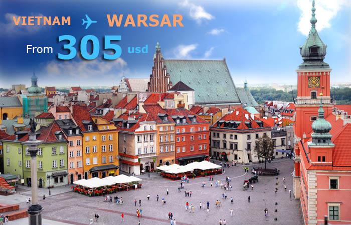 Vé máy bay đi Warsaw giá rẻ