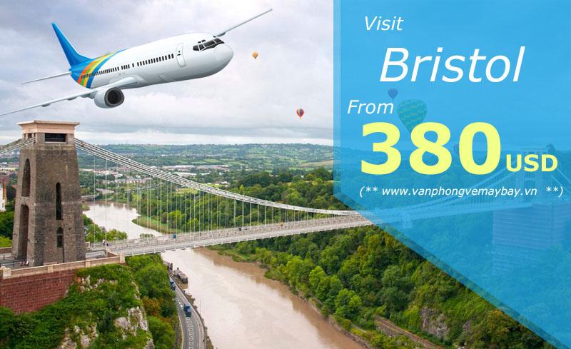 Vé máy bay đi Bristol (Anh) giá chỉ từ 380 USD