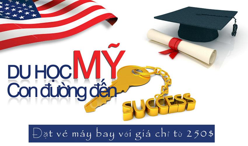 Vé du học Mỹ