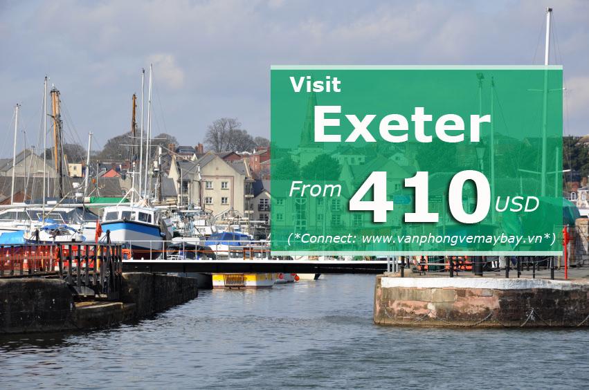 Vé máy bay đi Exeter (Anh) giá chỉ từ 390 USD