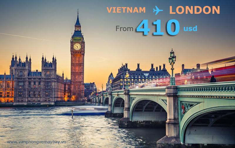 vé máy bay đi london giá 410 usd