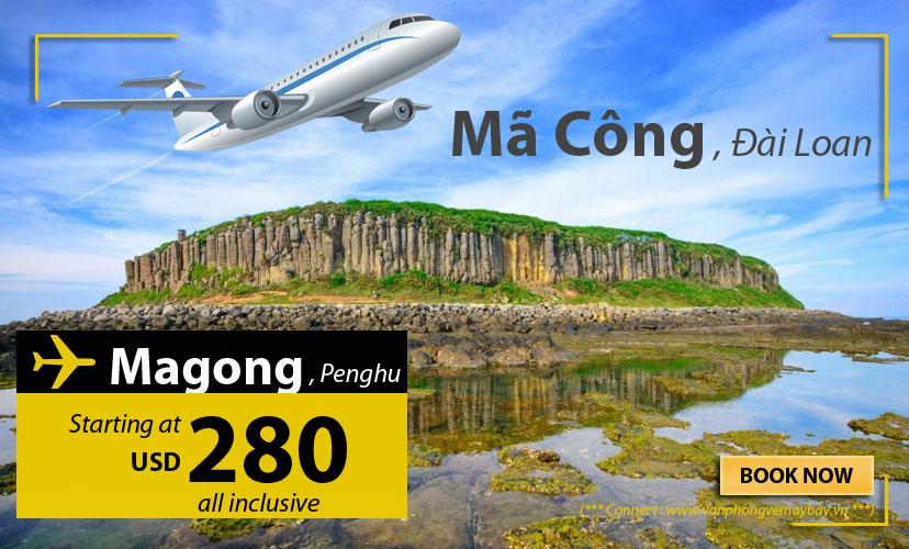 Đặt vé máy bay đi Mã Công (Magong) giá rẻ