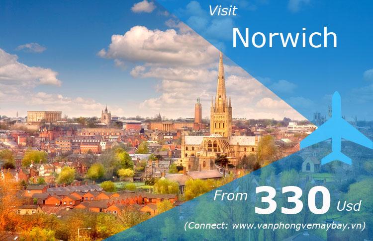 Vé máy bay đi Norwich (Anh) giá rẻ nhất chỉ từ 330 USD