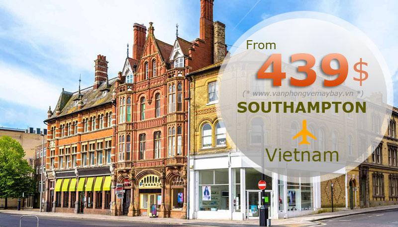 Vé máy bay đi Southampton (Anh) chỉ từ 439 USD