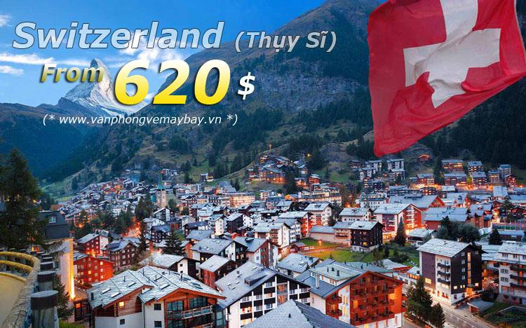 Vé máy bay đi Thụy Sĩ giá rẻ