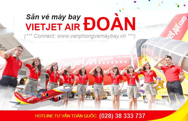 Vé máy bay đoàn Vietjet Air