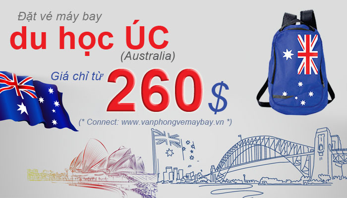 Vé máy bay đi du học Úc