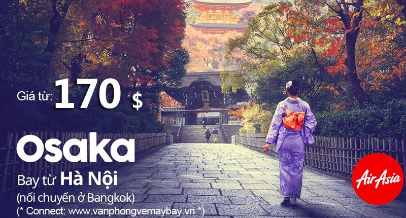Air Asia khuyến mãi đi Osaka